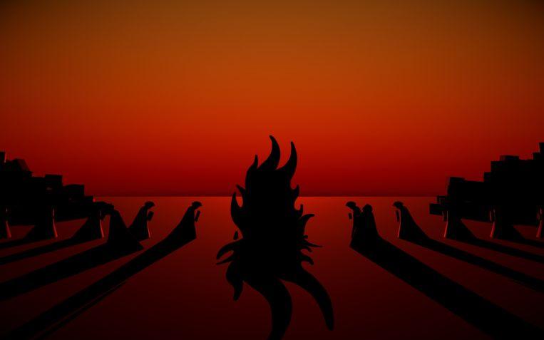 Een – jazeker – boekverbranding in 'Bonfire of the Vanities'. Beeld Meditations