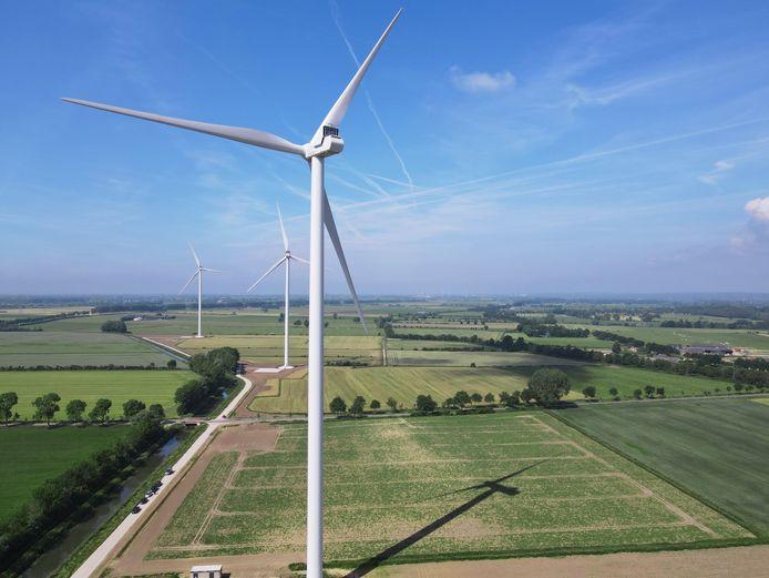 Windpark Bijvanck tussen Angerlo en Loil.