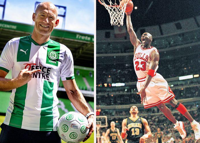 Arjen Robben en Michael Jordan.