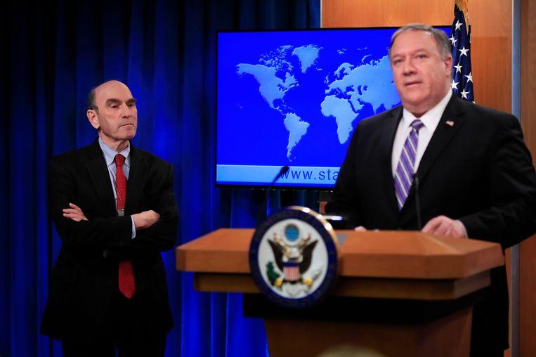 Pompeo stelt Elliott Abrams (links) voor als speciaal gezant voor Venezuela.