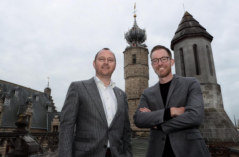 Wethouder Arjan van der Weegen en projectleider Andries Boer.