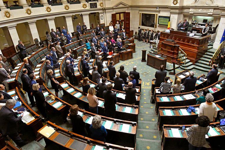 Een zitting in de Kamer van Volksvertegenwoordigers. Beeld Photo News
