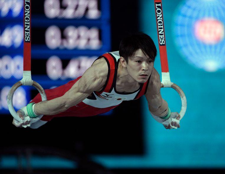 Gymnast Kohei Uchimura mikt op een achtste olympische medaille. Beeld Photo News