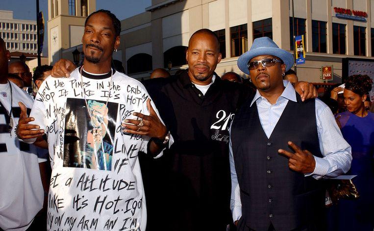 Snoop Dogg, Nate Dogg en Warren G. Beeld getty