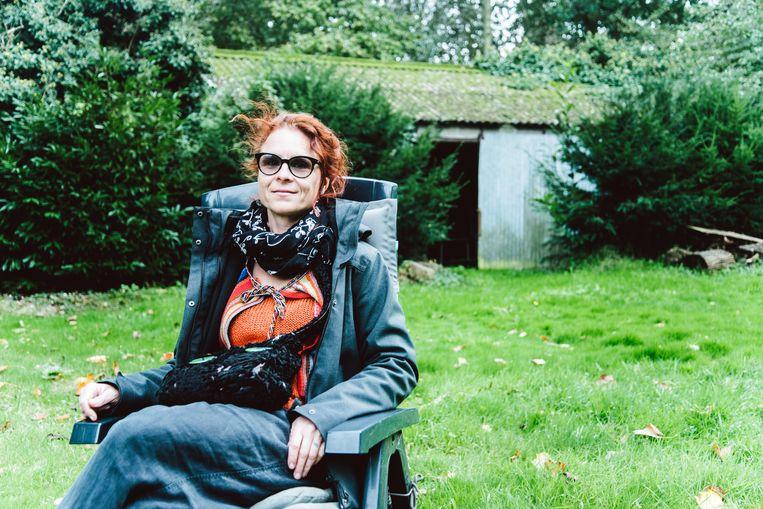 Marjolein Moreau: 'Ik begrijp volkomen dat heel wat mensen zich ergeren aan ons.Maar het is de enige manier om iets te bereiken.' Beeld Francis Vanhee