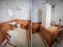 Op de vloer van het koninklijk toilet zie je roestplekken die zijn gevormd door scheermesjes die daar in de oorlogsjaren waren achtergebleven.