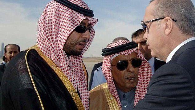 Archiefbeeld van de prins tijdens een ontmoeting met de Turkse president Erdogan.