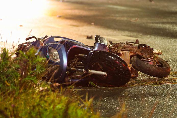 Scooter van het dodelijke slachtoffer.