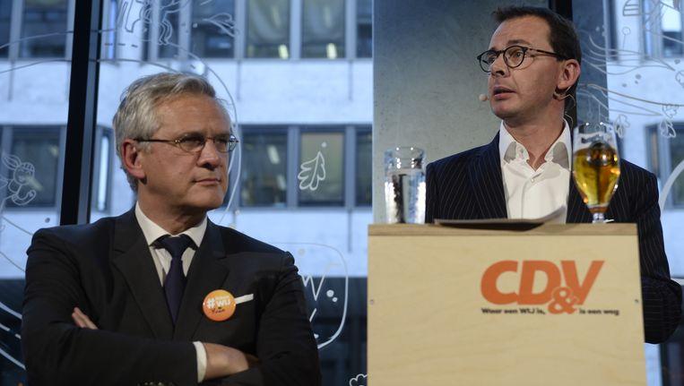 CD&V-kopstukken Kris Peeters en Wouter Beke.