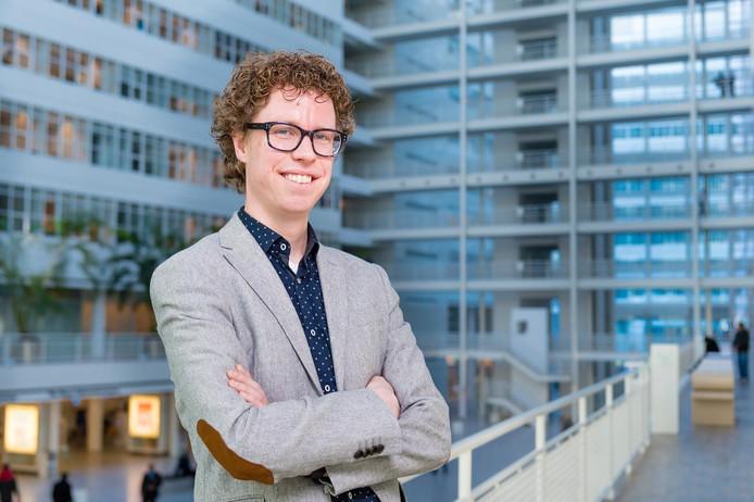 De jonge fractievoorzitter Martijn Balster.