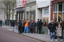 Rij voor coffeeshop in Den Bosch waar onlangs een incident was
