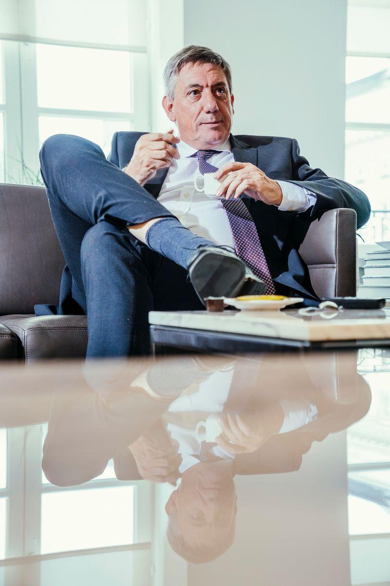 Jan Jambon: 'Als u mij een beetje kent, dan weet u dat ik pas voor nieuwe belastingen. Daar gaan we niet aan beginnen.' Beeld © Stefaan Temmerman