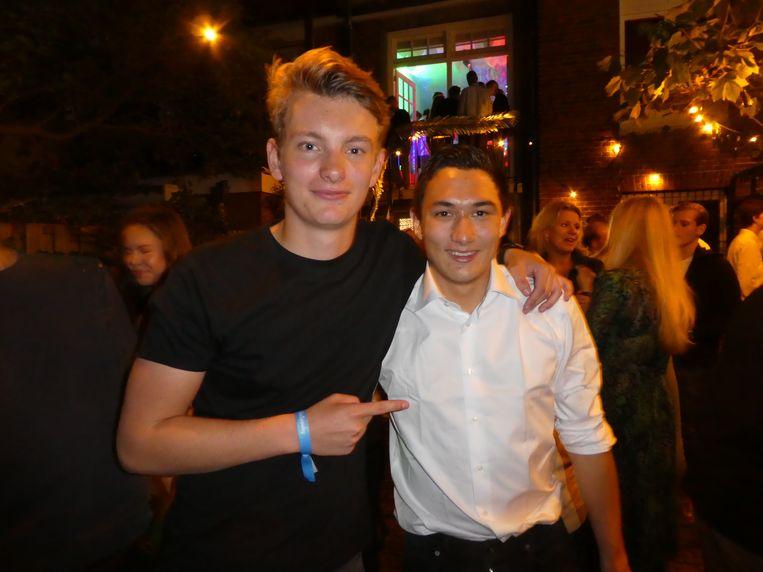 Tim van der Wiel (21) en Liam Tjoa (22), oprichters van GoSpooky. Met mobiele marketing binnen drie jaar naar een pand van vijf verdiepingen bij het Vondelpark. Beeld Hans van der Beek