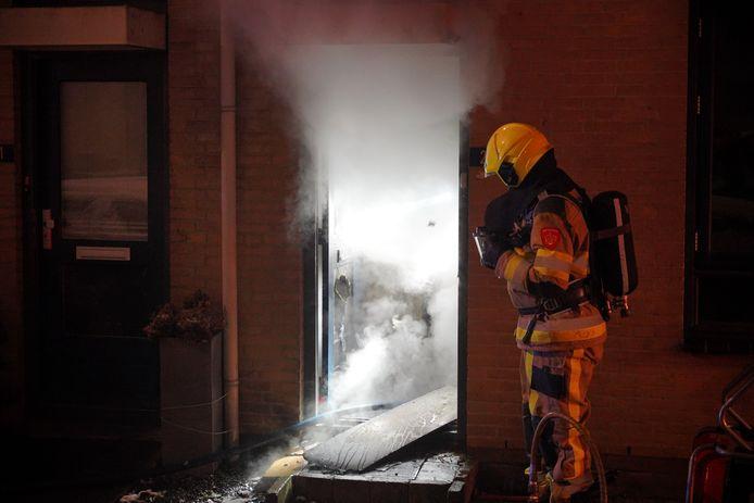 Veel rookontwikkeling bij de woningbrand in Nijmegen.