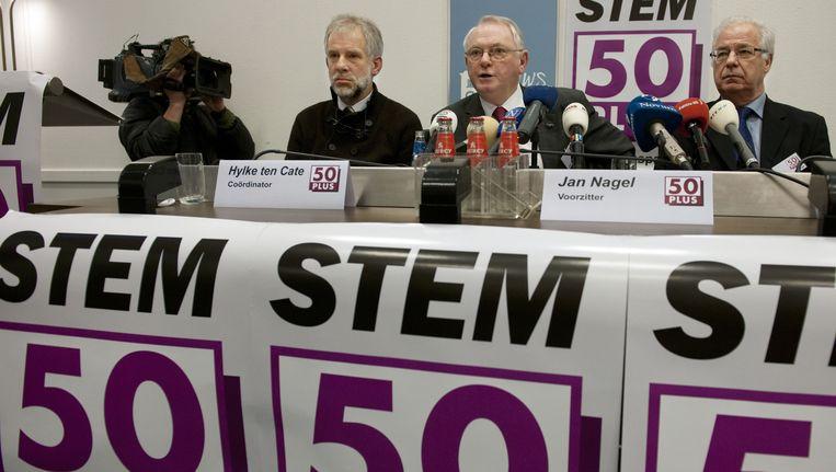 Jan Nagel bij de presentatie van de partij 50Plus Beeld ANP