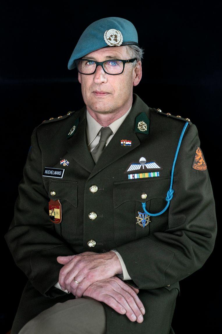 Sinds 2008 is René Nuchelmans weer veel actiever bezig met zijn identiteit als veteraan. 'Het begon weer te kriebelen.' Beeld Reyer Boxem