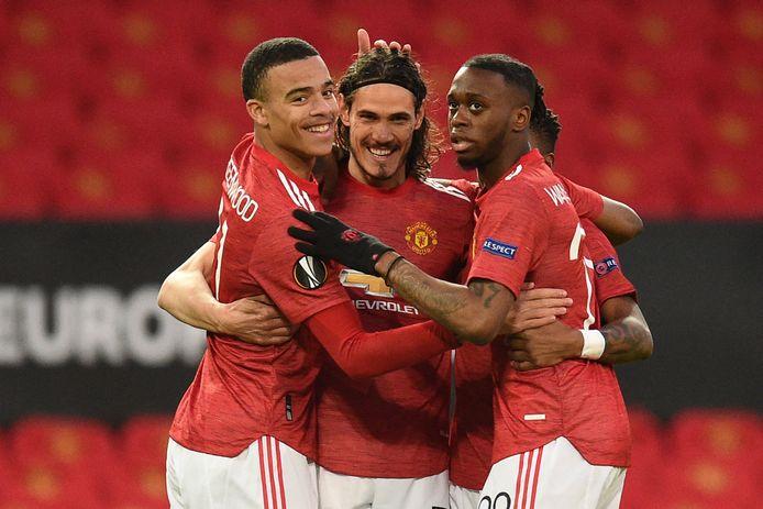 Edinson Cavani zette Manchester United op weg naar de laatste vier in de Europa League.