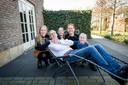 Dennis Lammersen met zijn familie.