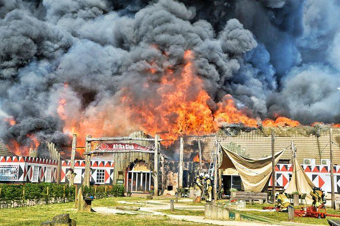 Brand bij de Beekse Bergen.