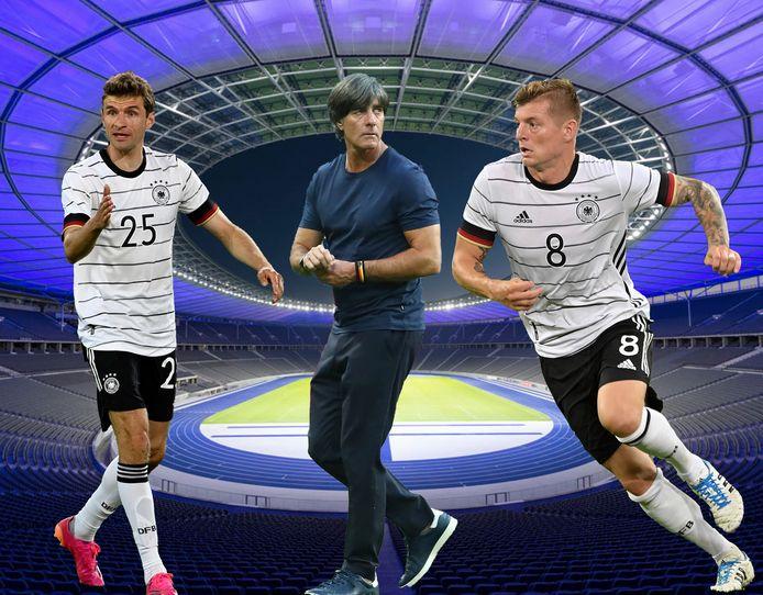 Müller, Löw en Kroos.