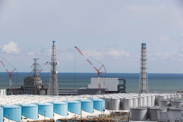 De kernreactor in Fukushima die door Tepco wordt ontmanteld.  Beeld AP