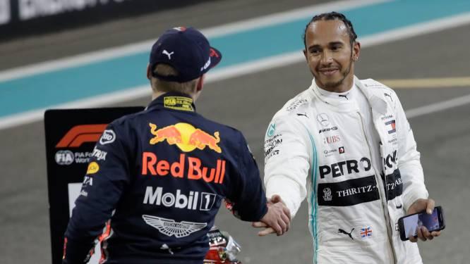 """Hamilton over uitspraken Verstappen: """"Dat zie ik vaak als teken van zwakte"""""""