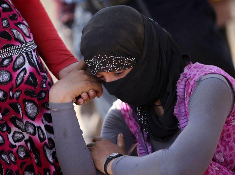 Duizenden jezidi-vrouwen en -meisjes werden door IS op markten als seksslavinnen verkocht. Beeld reuters