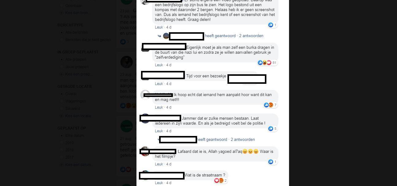 Enkele posts op Facebook.