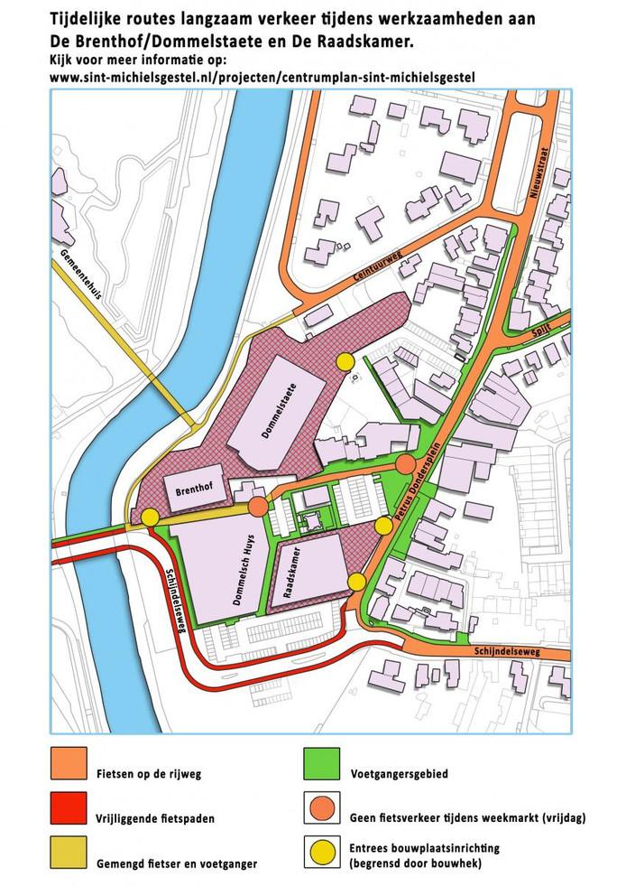 Routes voor het langzaam verkeer in Gestel.