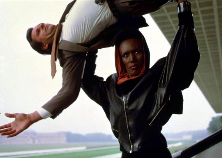 Grace Jones als de schurk in ' A View to a Kill'. Beeld Alamy Stock Photo