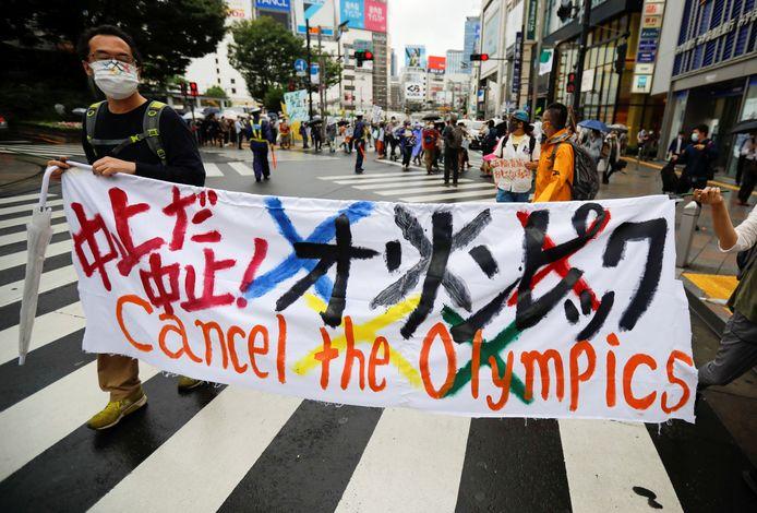 In Japan is heel wat protest tegen de organisatie van de Olympische Spelen.