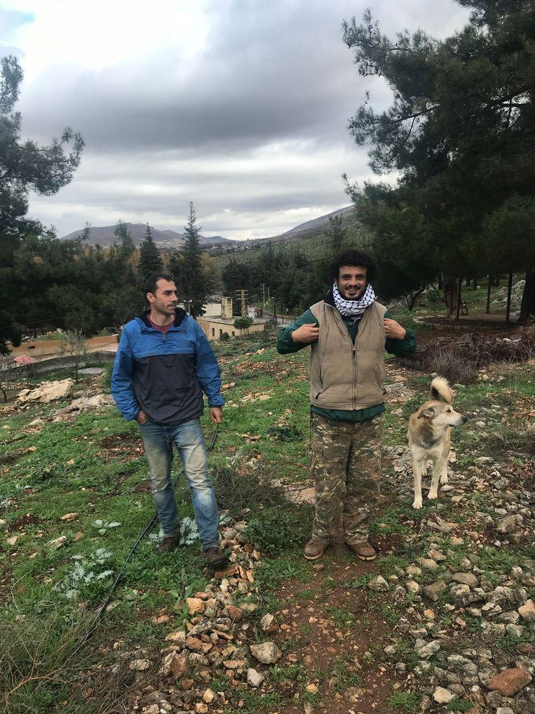 Khajag Stamboulian en Hrair 'Ojo' Kurdian.  Beeld