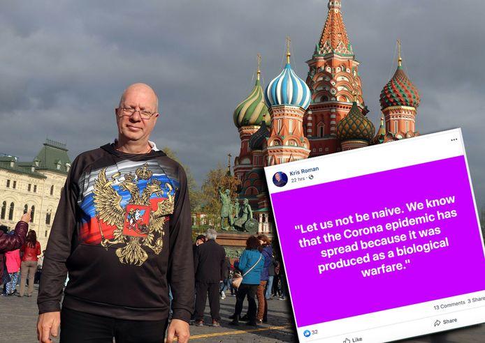 Kris Roman verschijnt geregeld op de Russische staatstelevisie om daar zijn zegje te doen over het verval in het Westen.