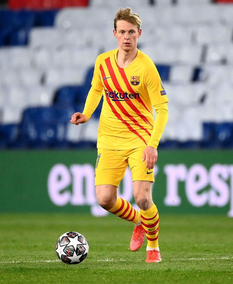 De overgang van Frenkie de Jong van Ajax naar Barcelona werd geregeld met behulp van een factoringbedrijf. Beeld AFP