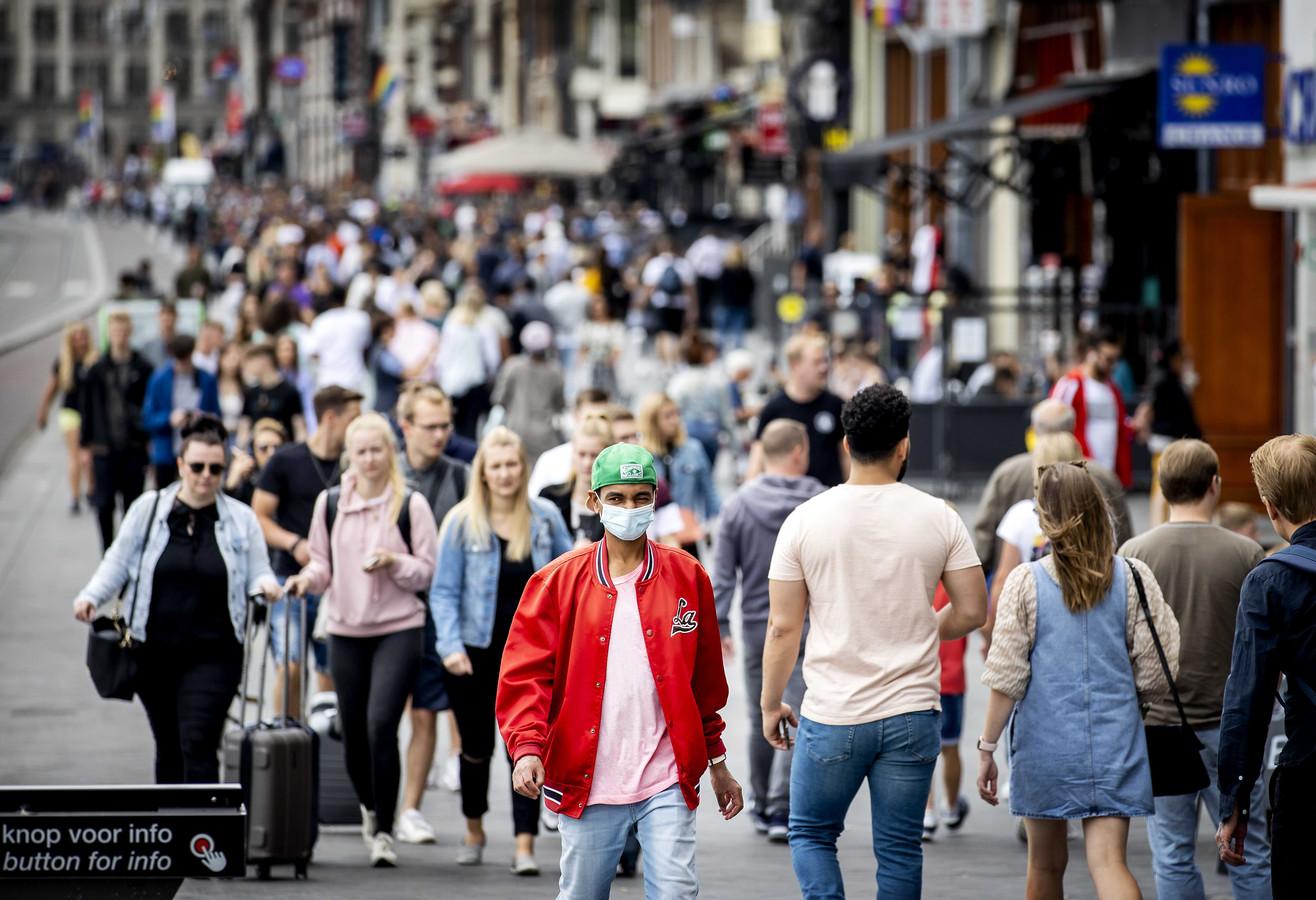 Une rue d'Amsterdam, le 23 juillet 2020.