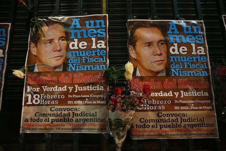 Na zijn dood werd een stille mars gehouden in Buenos Aires en andere steden ter nagedachtenis aan Nisman. Beeld getty