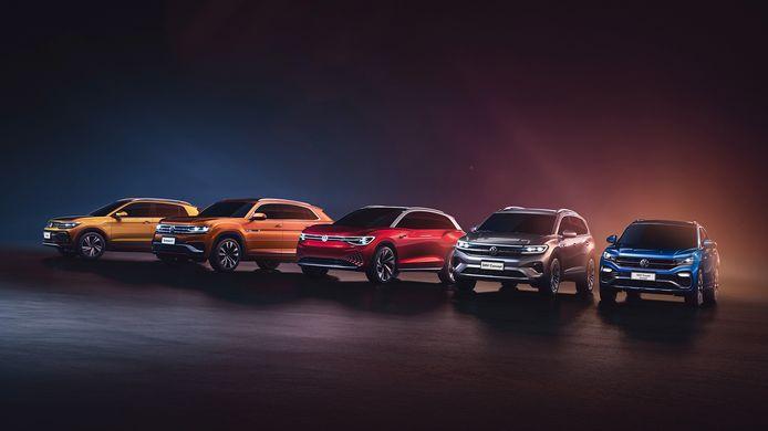 Volkswagen bouwt in Azië speciaal voor de Chinese markt vijf SUV's met namen die in Europa onbekend zijn.