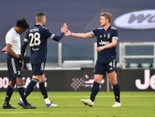 Juventus verkleint achterstand op koploper AC Milan bij rentree De Ligt