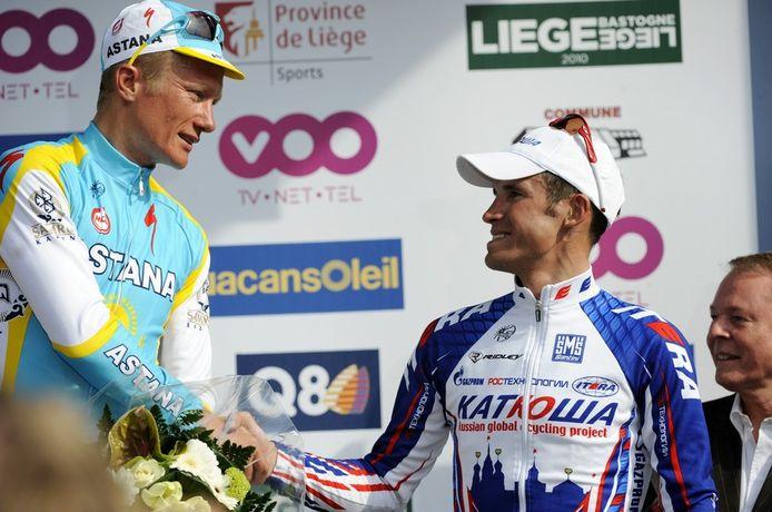 Vinokourov en Kolobnev.
