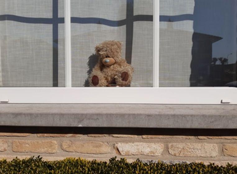 Zoek naar de teddyberen in het straatbeeld: Maria van Bourgondiëstraat in Izegem.