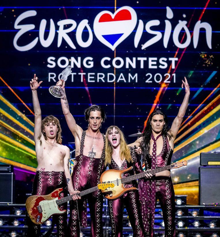De winnaar van het Eurovisie Songfestival 2021: Italië. Beeld ANP