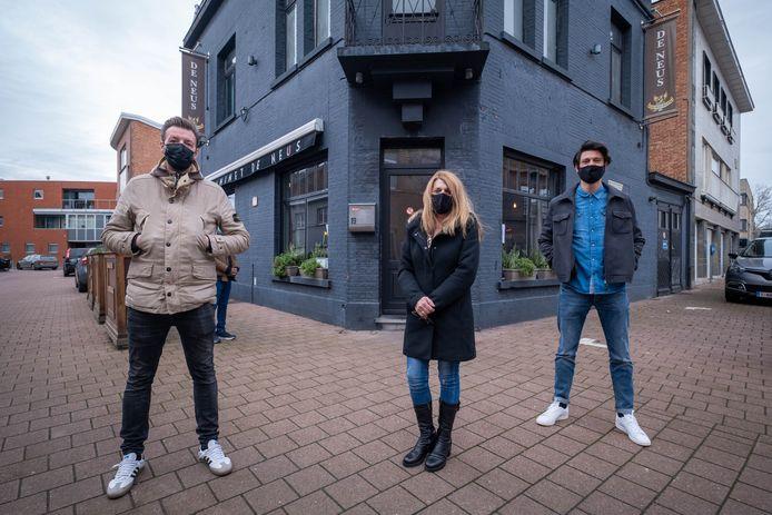 Dave Dyck, Jens Van Rompay en Linda Clerinx houden een benefiet voor restaurant De Neus