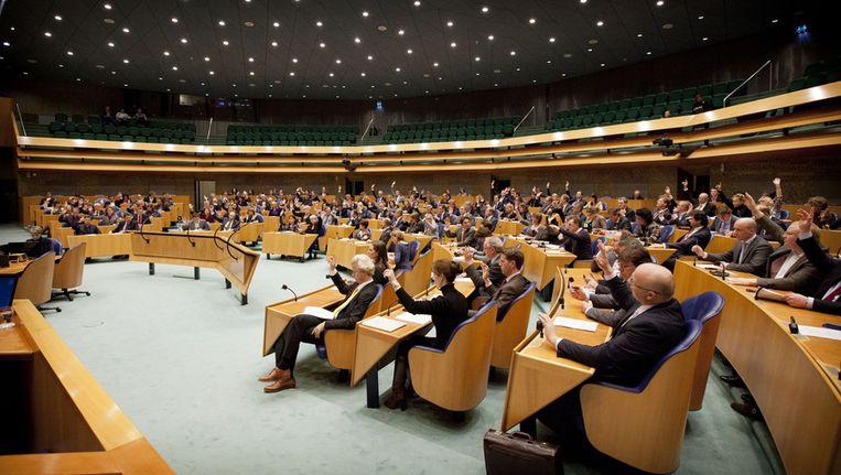 Plenaire vergadering, op de foto voor het Kerstreces. Beeld ANP