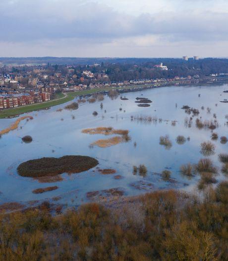 Uiterwaarden blijven langer nat na overstroming