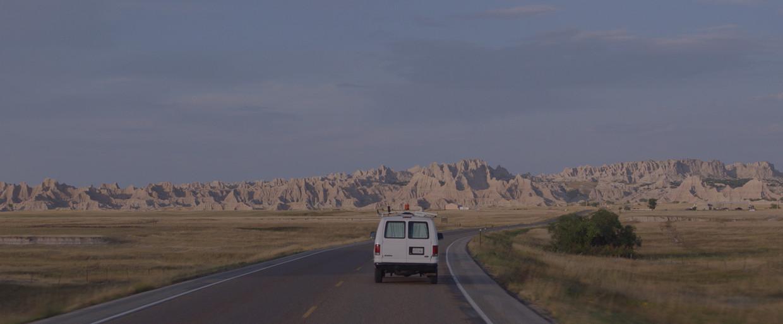Een beeld uit de kanshebber 'Nomadland'. Beeld