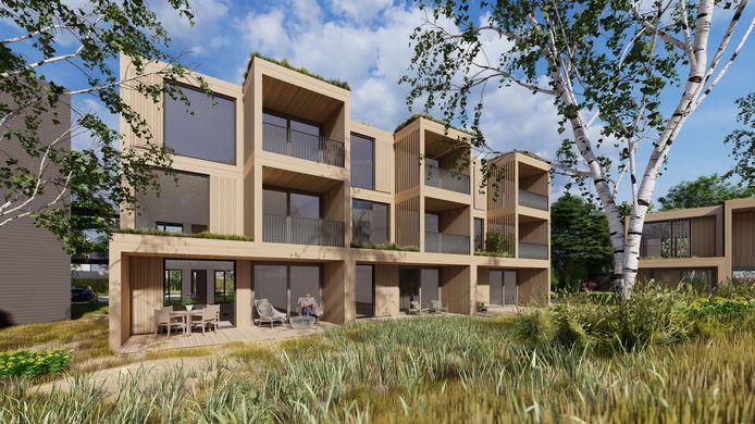 Een impressie van de nieuwe wijk Rivierduinen in Silvolde.
