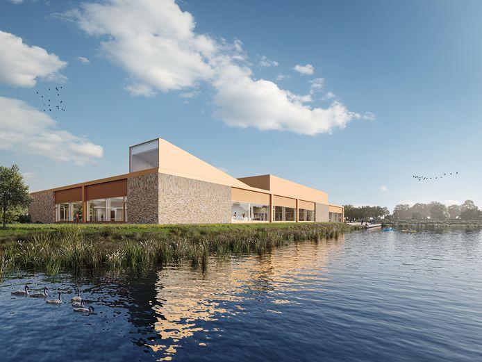 Een impressie van het nieuwe zwembad op sportpark Het Midden.