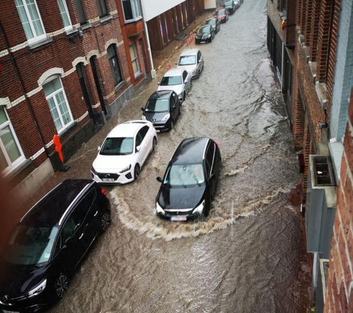 Het centrum van Sint-Truiden liep onder.