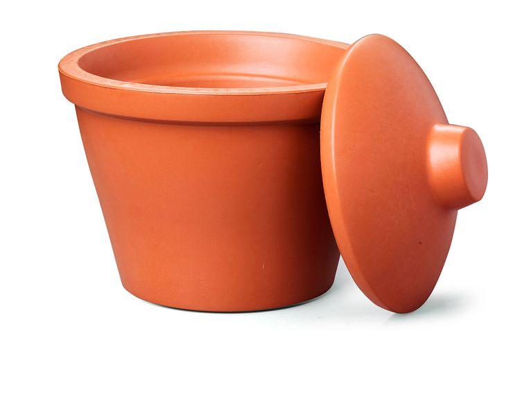 IJsemmer met deksel van gifvrij recyclebaar ethyl-vinyl acetaat, € 80 (Corning.com) Beeld packshot