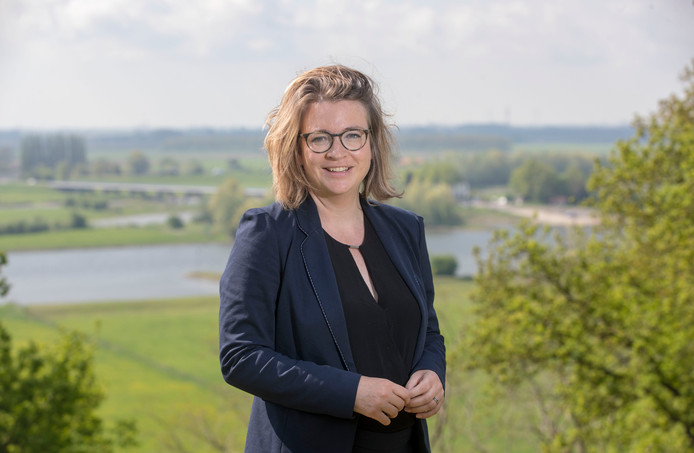 Beoogd wethouder  Anne Janssen op de Wageningse Berg